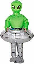 Aufblasbare kostüm fliegende untertasse alien