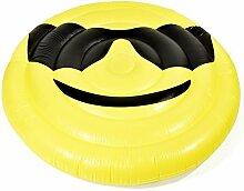 Aufblasbare Matratze Smile Luftmatratze XXL Badeinsel Schwimminsel Luftbett 150 cm Durchmesser