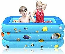 Aufblasbare Pool, 150 x 110 x 50 cm Planschbecken