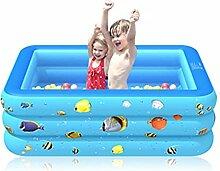 Aufblasbare Pool, 180 x 130 x 55 cm Planschbecken