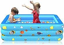 Aufblasbare Pool, 210 x 135 x 55 cm Planschbecken