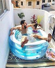 Aufblasbare Pools Elliptische Blauwalbadewanne