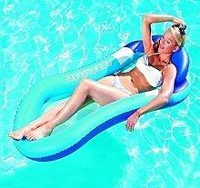 Aufblasbare Schwimmbad Matratze Blau Aqua Lounge