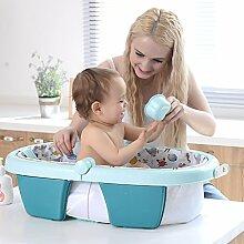 Aufblasbare Wanne faltende Babybadewanne kann Babybadewanne sitzen neugeborenes allgemeines Antirutschbad ( Color : Blue )