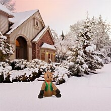Aufblasbare Weihnachtsdeko Mr. Rudy oneConcept