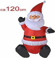 Aufblasbare Weihnachtsdeko XL Weihnachtsmann