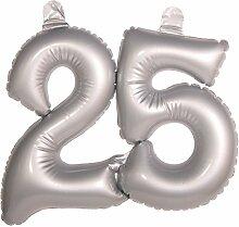 Aufblasbare Zahl 25 Silber Hochzeit Deko Silberhochzeit Ballon