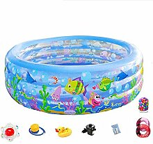 Aufblasbarer 3-Ring-Pool Mit Tropischen Fischen Im