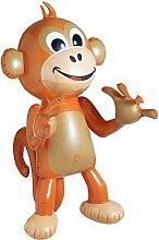 Aufblasbarer Affe 50 cm Dekoration Deko Partydekoration aufblasbar Tier Affen Urwald aufblasbar