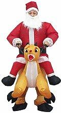 Aufblasbarer Anzug Weihnachtsmann Reiten Hirsch