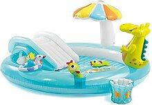 Aufblasbarer Badewannen-Krokodil-Brunnen-aufblasbarer Marinekugel-Pool-Säuglings-Planschbecken-Swimmingpool