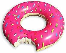 Aufblasbarer Donut Schwimmring - Ø 120cm, XXL Schwimmreifen aus PVC / Wasserspielzeug, Badespielzeug
