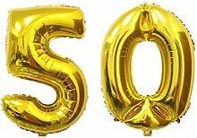 Aufblasbarer Folienballon Helium Goldene Hochzeit