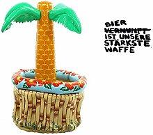 Aufblasbarer Getränkehalter Palme   Pool   Getränkekühler   Getränkehalter   Getränke Kühler   Bier ist unsere stärkste Waffe   Preis am Stiel®