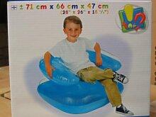 Aufblasbarer Kinder Sessel -transparent 3 fach sortiert 71x66x47 cm