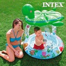 Aufblasbarer Pool mit Sonnenschirm Intex