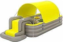 Aufblasbarer Pool Planschbecken mit Sonnenschutz