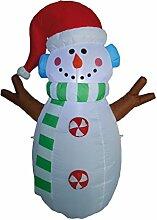 Aufblasbarer Schneemann mit Gebläse und Licht,