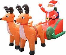Aufblasbarer Weihnachtsmann Rentiere Schlitten
