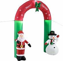 Aufblasbarer Weihnachtsmann und Schneemann Die