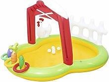 Aufblasbares Baby Planschbecken Kinderbecken Verdickter Sand-Pool (Farbe : Gelb)