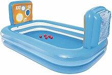 Aufblasbares Baby Planschbecken Kinderbecken Verdickter Sand-Pool (Farbe : Blau)