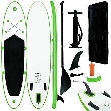 Aufblasbares Stand Up Paddle Board Set Grün und