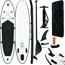 Aufblasbares Stand Up Paddle Board Set Schwarz und