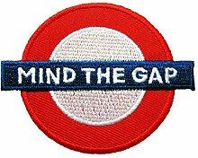 Aufbügler/Aufnäher London Sign Mind The Gap
