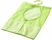 Aufhängen Mesh Tasche, nacola bunt Mehrzweck wäscheklammergröße Tasche mit Kleiderbügel, Badezimmer Dusche Lagerung Organizer Set grün