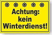 Aufkleber Achtung Kein Winterdiest 20x30cm