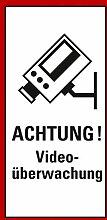 Aufkleber Achtung Videoüberwachung! DSVGO