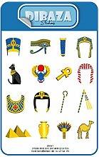 Aufkleber Ägyptischer König Animierte Figuren