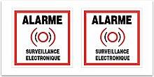 Aufkleber-Alarm Sicherheit Überwachung? Z108
