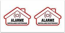 Aufkleber-Alarm Sicherheit Überwachung? Z109