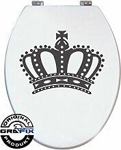 Aufkleber Anthrazit Krone für Pressalit WC