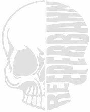 Aufkleber Applikation - Totenkopf - Reeperbahn -