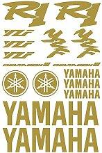 Aufkleber Aufkleber Yamaha R1Ref: moto-159 gold