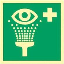 Aufkleber Augenspüleinrichtung HIGHLIGHT Folie