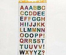Aufkleber Aus Kunststoff, Farbige Buchstaben,