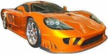 Aufkleber Auto - 130 x 65 cm, orange