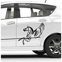 Aufkleber Auto der Envol des Pegasus–Deco Soon, rot, 60 x 34,7 cm