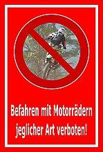 Aufkleber – Befahren mit Motorrädern jeglicher