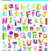 Aufkleber Buchstaben Und Zahlen, Bunte,