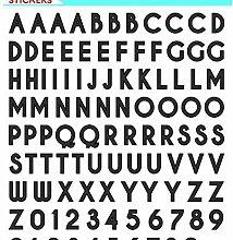 Aufkleber Buchstaben Und Zahlen Schwarz, Einfache,
