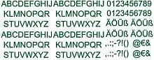 Aufkleber Buchstaben und Zahlen Set Autoaufkleber