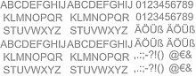 Aufkleber Buchstaben und Zahlen Set Autoaufkleber 105x40cm grau