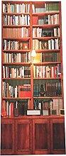 Aufkleber,Chshe 3D-Aufkleber-Tür-Wand-Kühlraum-Aufkleber-Verpackungs-Wandmalerei-Retro- Bücherregal-Kleber
