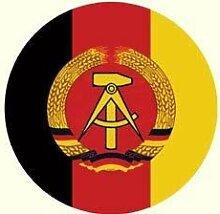 Aufkleber DDR Emblem rund 20cm | DDR Waren | DDR