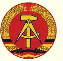Aufkleber DDR Emblem rund 7cm - Ossi Artikel -